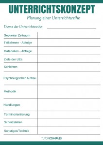 Tutor Compass Sprachlehrer Unterrichtskonzept Vorlage