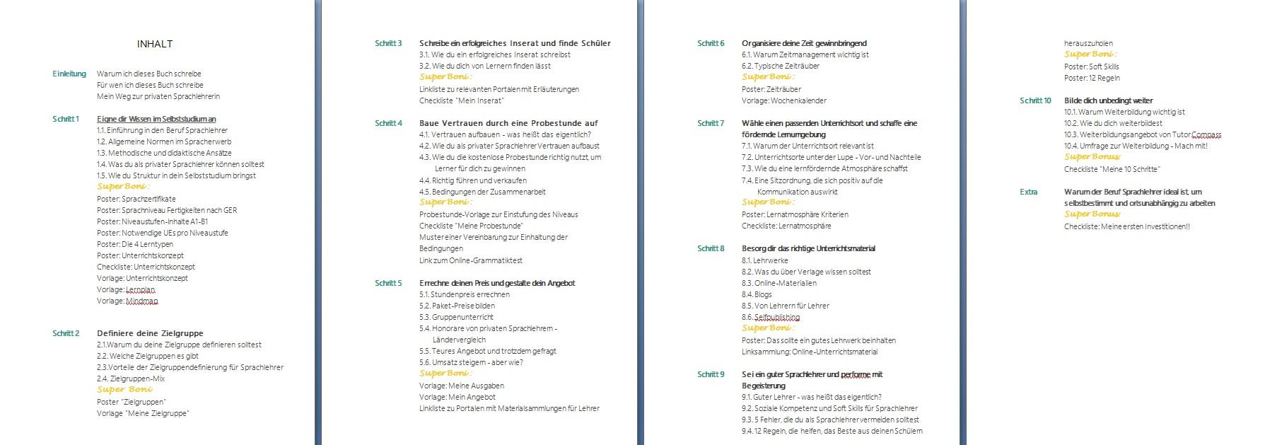 Sprachlehrer werden ebook Inhaltsverzeichnis