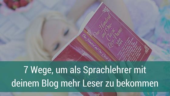 mehr Leser auf Blog