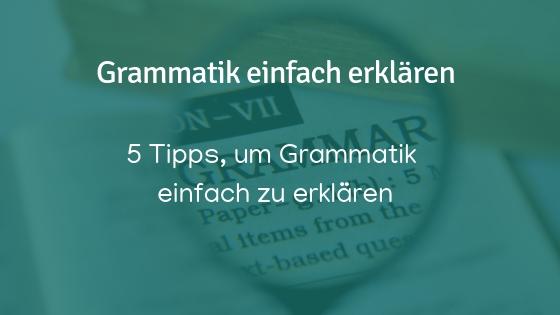 Grammatik unterrichten