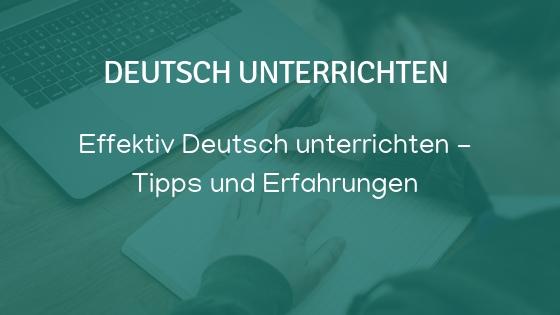 Deutsch unterrichten lernen