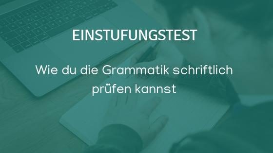 Deutsche Grammatik prüfen